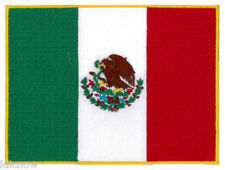 """Mexico (embroidered) Country Flag Patch 4 3/4""""x 3 1/2"""" (12 x 9CM) approx"""