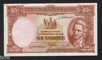 NEW ZEALAND P-158a. (1940-55) Ten Shillings - Hanna..   Prefix 1/54.. gVF