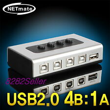 4 Port USB 2.0 Manual Sharing Switch BOX Printer Scanner 4:1 1A 4B SELECTOR NEW
