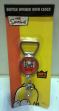 SIMPSON APRIBOTTIGLIE DUFF BEER BOTTLE OPENER WITH CLOCK KEY RING THE SIMPSONS