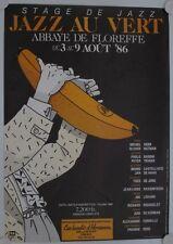 Affiche Théâtre Musique JAZZ AU VERT 1986 Belgique
