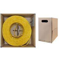 1000 ft CAT5E UTP Bulk Cable, Stranded, 350MHz, 24 AWG   Yellow   10X6-081SH