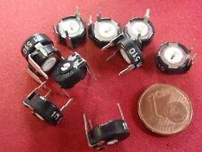 Rara resistencia-Trimmer 0-1m Ohm encapsulado tirados d10x4mm 10x 24023-25