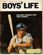 1969 MARCH Boys' Life baseball magazine Ron Santo, Chicago Cubs ~ Fair