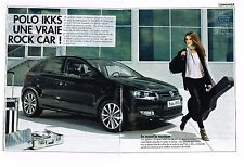 PUBLICITE ADVERTISING  2010   VOLKSWAGEN    POLO  IKKS ROCK CAR  (2 pages)