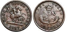 CANADA UPPER CANADA PENNY 1857