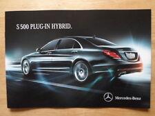 MERCEDES BENZ S500 PLUG IN HYBRID orig 2014 UK Mkt Sales Brochure - S Class