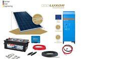 Komplett Solaranlage Solarset 230 V,  mit 2 x 260 Wp Modul +2000 Watt Sinus Wech