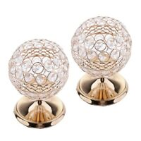2x Romantic Crystal Candle Holder Wedding Bar Party Dinner Decor Candlestick