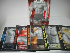 Muscle & Fitness Training System 5 Dvd Set Box kit. Arms, Chest, Back, Abs, Legs
