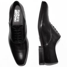 NIB Ferragamo Plain Toe Oxford 11.5 D 44.5 Mens Leather Black Dress Shoes Formal