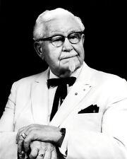 Colonel Harland Sanders #1 Photo 8X10 - KFC  B&W