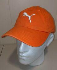 Puma orange golf cap dad hat osfa one size strap buckle adjustable