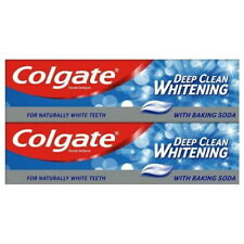 2 x Colgate Deep Clean Whitening with Baking Soda Toothpaste 100ml