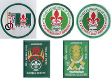 Nigeria Scouts - Jamboree badges set, 2015-Japan, 2011, 2007, 2003, 1999