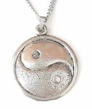 Ying N Yang Design2 Pendant Handcrafted in Solid Pewter In The UK + Free GiftBox