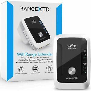 Neu RangeXTD Palette Extender Wifi Booster WLAN Repeater Gang 300 Mbps 2.4GHz UK
