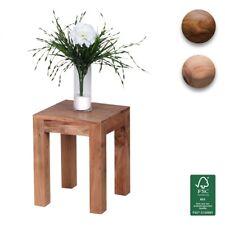 Massiver Beistelltisch Holz Massiv 35cm Kleiner Wohnzimmertisch Couchtisch