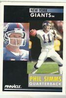 FREE SHIPPING-MINT-1991 Pinnacle #235 Phil Simms  Giants PLUS BONUS CARDS