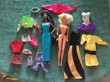 4 Fancy 80's Big Hair Barbie Dolls