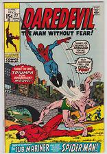 Daredevil #77 VF+ 8.5 Spider-Man Sub-Mariner Gene Colan Art!