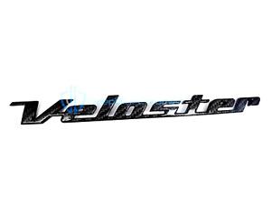 Hyundai Veloster 2012-2017 Black Carbon Fiber Rear Emblem OEM Nameplate Liftgate