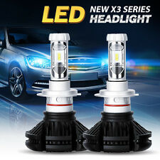X3 Led Lighting 12000lm Mini H4 LED Headlight DIY Upgrade Conversion Kit Bright