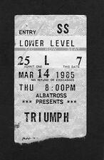 Original 1985 Triumph concert ticket stub Thunder Seven Tour