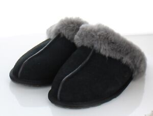 76-22 NEW $90 Women's Size  9M Ugg Scuffette II Suede Slippers In Black