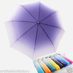 Maximum Protection Travel Umbrella, Folding Umbrella, Gradient Color Umbrella