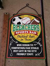 "Metal Sign Wall Decor Retro Bleacher Sports Bar Beer Food 12"" x 9"" Man Cave"