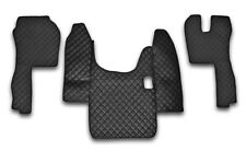 ECO LEATHER SET BLACK FLOOR MATS+ENGINE COVER SCANIA R MANUAL RHD 2004-2009