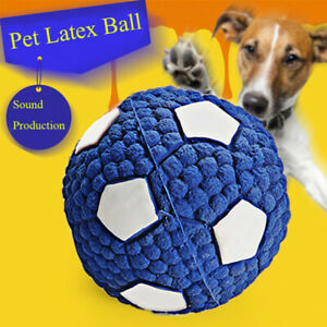 Pet Dog Toy Ball Interesting Tennis Football Teeth Cleaning Tool Squeaky Puppy