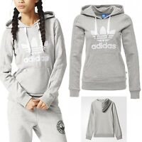 Adidas Originals Women SLIM GRAY HOODIE Track Sweatshirt FLEECE Rita Ora UK 8 6