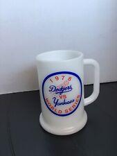 Vintage 1978 dodgers vs yankees world series milk glass Mug