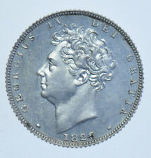 More details for rare 1826 silver proof sixpence, british coin from george iv afdc