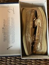 Sperry Top Sider Angelfish Gold/Tan Shoes Women's Size 8  Beautiful Hardly Worn!