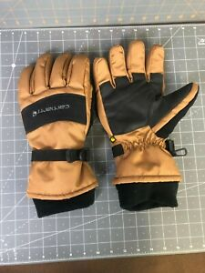 Carhartt Black and Brown Waterproof Insulated Gloves XL