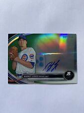 2013 Bowman Platinum Barret Loux Chicago Cubs Green Autographed Card /399