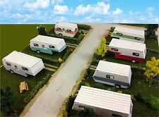 N Scale Buildings - Mobile Home Trailer Park Camper Homes Cardstock kit set