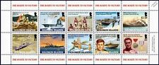 WWII Route To Victory/Guadalcanal Aircraft Ship Stamp Sheet/2005 Solomon Islands