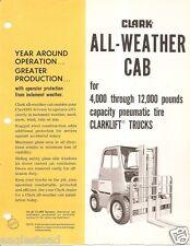 Fork Lift Truck Brochure - Clark - All Weather Cab for Clarklift - 1966 (Lt98)