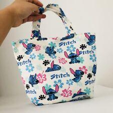 Lilo&stitch white cute handbag gift lunch box bag unisex tote recycle bag