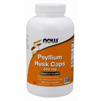 NOW FOODS Psyllium Husk 500 mg 500 Capsules Fresh, Free Shipping, Made in USA