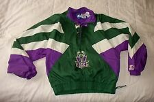 Vintage NBA Milwaukee Bucks Starter Pullover Windbreaker Jacket  YOUTH L Large