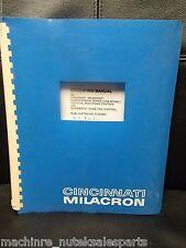 Cincinnati Milacron Operating Manual Sabre/Arrow Series Vmc, 91202981, 1995