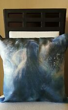 """Beautiful Horses Running in Water Linen Throw Pillow Case Cover 18"""" US Seller"""