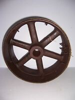 "ANTIQUE CAST IRON FLAT BELT 14"" PULLEY WHEEL INDUSTRIAL STEAMPUNK"
