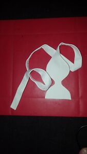 """New White  Marcella Single Ended Self Tied  Bow Tie Length 31 1/2"""" width 3"""""""