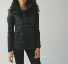 New Lululemon Down For A Run Pullover size 4 Black Jacket Quilted Puffer